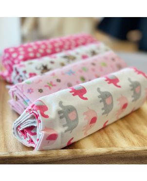 Baby Blanket 4 Set - Pink Ele