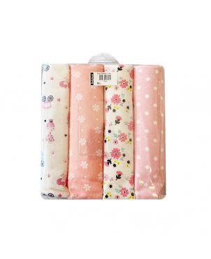 Baby Blanket 4 Set - Flower