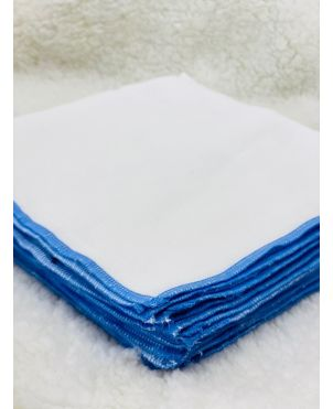 Nappy 18 X 18 (6Pc) Blue border