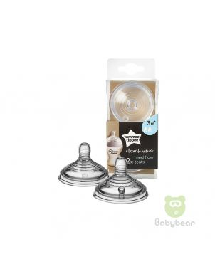 TommeeTippee Closer to Nature Med Flow 3m+ Teats