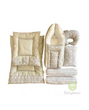 7 in 1 Baby Bedding Set - Diamond Print