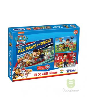 All Paws on Deck Puzzle 3 x 48pc