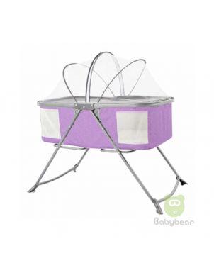 Baby Crib Baby Cradle Baby Bassinet- Purple