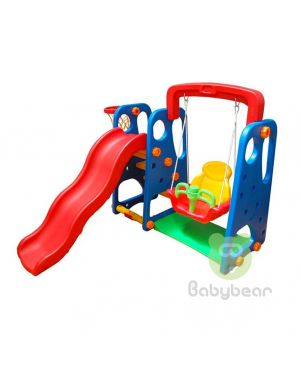 3 in 1 Baby Swing and Slide and Basket Ball Ring Playground