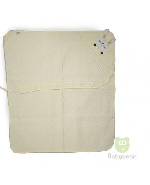Hooded Baby Blanket - Yellow