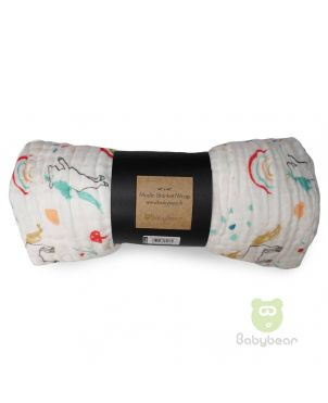 Babybear Muslin Blanket - Wrap Unicorn