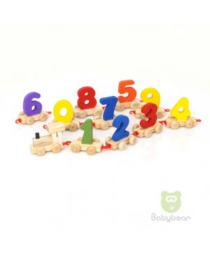Children's 0-9 Counting Wooden Train Set