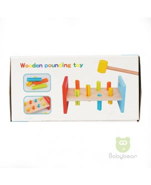 Wooden Pounding Bench Toy with Mallet