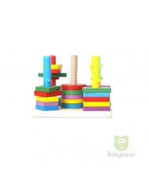 Wooden Shaper Sorter Toy Set