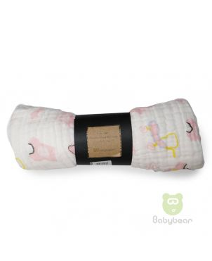 Babybear Muslin Blanket - Wrap Pink