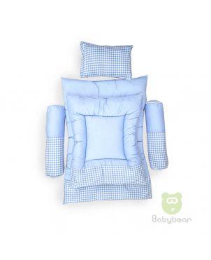 7 in 1 Bedding Set - Blue Checks