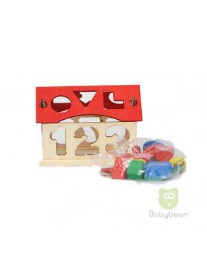 Kids Educational Wooden House Building Blocks