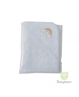 Babybear Hooded Towel Full Blue