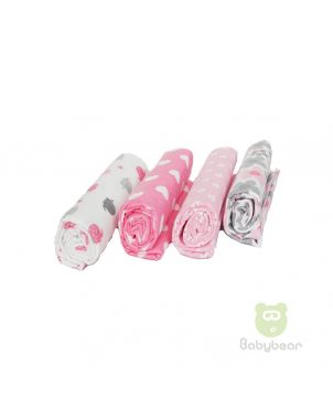 Babybear Blanket Set of 4 Pinks