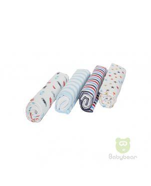 Babybear Blanket Set of 4  Blues