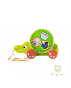 Cartoon animal building block trailer Croc