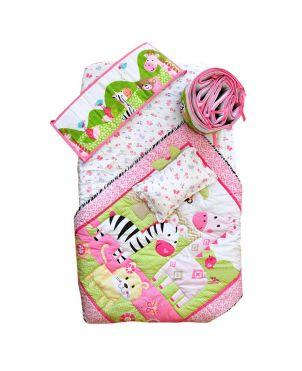 8 Piece Bedding Set - Pink Zoo