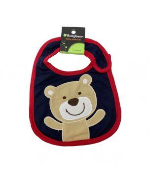Baby Bib - Bear Dark