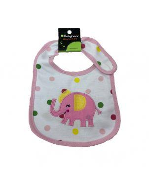 Baby Bib - Pink Elephant