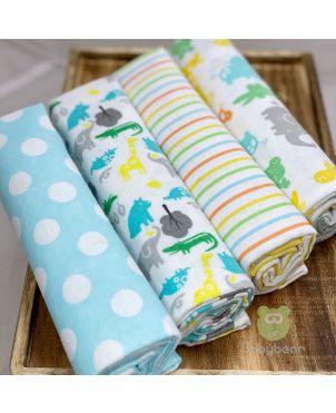 Baby Blanket 4 Set -Wild Animal