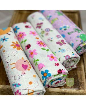 Baby Blanket 4 Set -Flowers