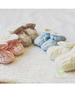 Classic Baby Booties - 4 Sets