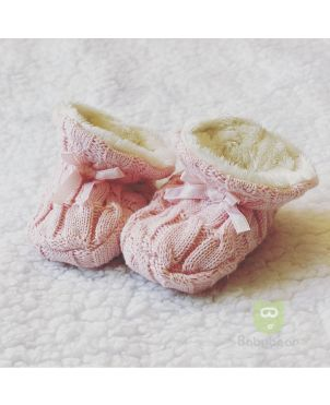 Classic Baby Booties - Pink
