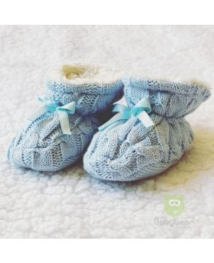Classic Baby Booties - Blue