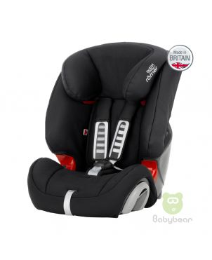 Britax Romer EVOLVA 1-2-3 (Black) Made in UK Baby Car Seat
