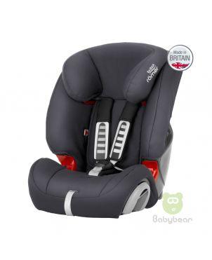 Britax Romer EVOLVA 1-2-3 (Steel Grey) Made in UK Baby Car Seat