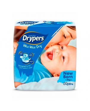 Drypers New Born NB 64Pc - Diapers