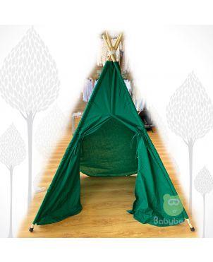 Teepee Tent - Dark Green Babybear