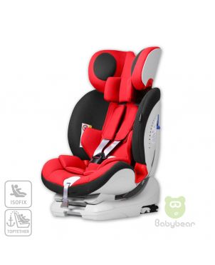 Lux IsoFix Car Seat - Red/Black