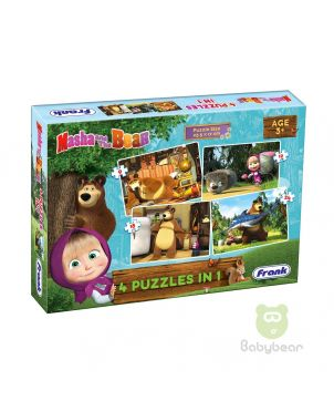 Masha and the Bear Puzzle 4 in 1 - Early Learner 3+