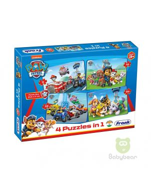 Paw Patrol Puzzle 4 in 1 Puzzle - Early Learner 3+