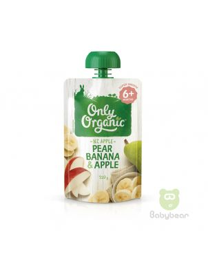Only Organic - Pear Banana & Apple Pouch - Baby Food