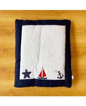 Red Sail Boat Baby Hand Quilt