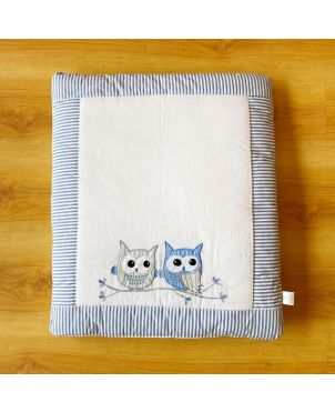 Blue Owl Baby Hand Quilt