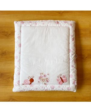 Pink Snail Baby Hand Quilt