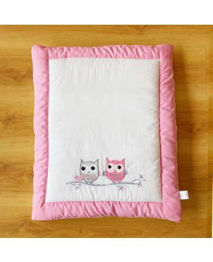 Pink Owl Baby Hand Quilt