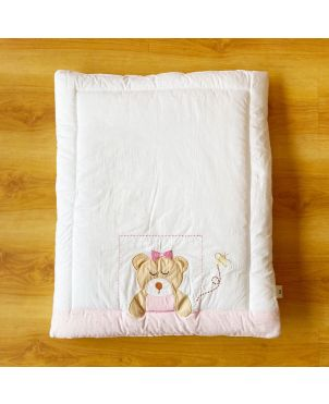 Pink Bear Baby Hand Quilt