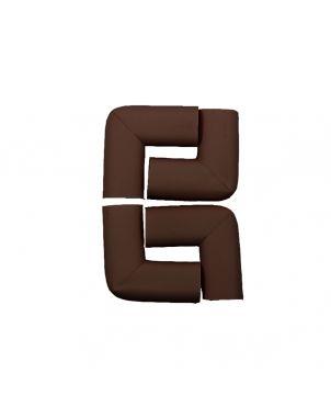 Rubber Corner Guard- Brown