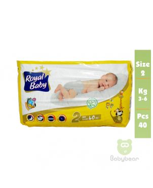 Royal Baby Diapers SIZE 2   3 to 6kg 40 Pcs