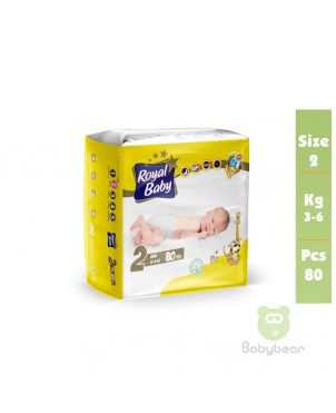 Royal Baby Diapers SIZE 2   3 to 6kg 80 Pcs