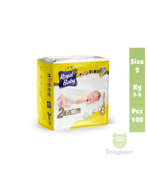 Royal Baby Diapers SIZE 2   3 to 6kg 100 Pcs