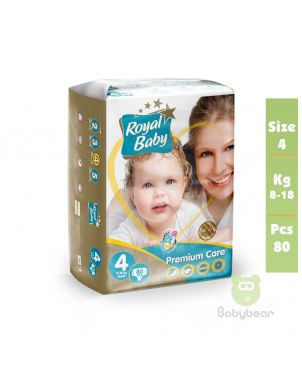 Royal Baby Diapers SIZE 4  PREMIUM 8 to 18 kg 80 Pcs