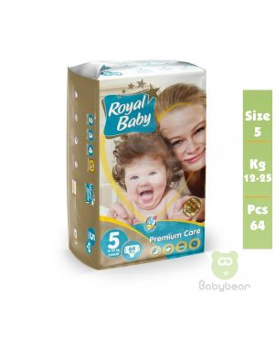 Royal Baby Diapers SIZE 5  PREMIUM 12 to 25 kg 64 Pcs