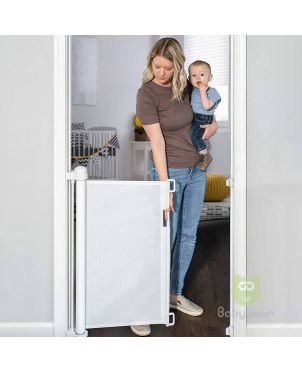 Retractable Baby Safety Gate - White
