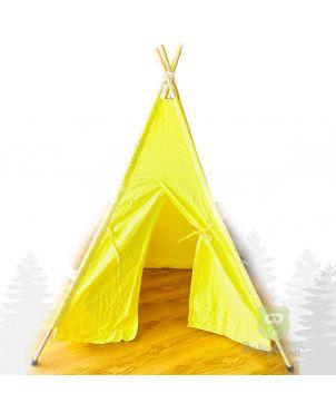 Teepee Tent - Yellow Polka Dot Babybear