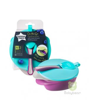 Tommee Tippee On the Go Baby Feeding Bowl 2 Nos